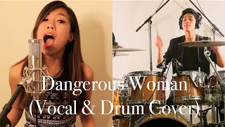 """""""Dangerous Woman"""" Ariana Grande COVER by Cheryl K ft. Kevin Dwi (Vocal & Drum)"""