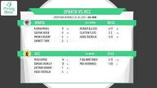 🔴LIVE: Sparta vs HCC    KNCB Eerste Klasse Round 15   Royal Dutch Cricket   25-07-2021