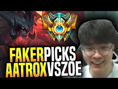 Faker Plays Aatrox Mid vs Zoe! - SKT T1 Faker Picks Aatrox Mid! | SKT T1 Replays