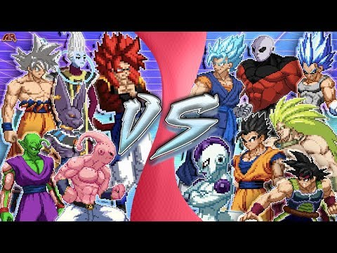 DRAGON BALL FREE FOR ALL! (Goku vs Vegeta, Jiren, Vegito, Gogeta, Beerus, Whis, Buu, Frieza) CARTOON