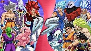 DRAGON BALL FREE FOR ALL! (Goku vs Vegeta, Jiren, Vegito, Gogeta, Beerus, Whis, Buu, Frieza) CARTOON