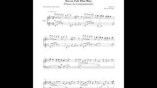 Never Felt This Way - Brian McKnight (Piano Accompaniment) by Aldy Santos