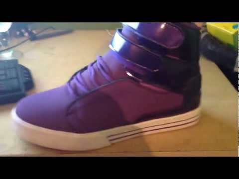 ShoeReviewTwo: First Video Supra TK Society Purple Limited Edition Skate Shoe