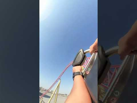 Extreme Roller Coaster Ride | The Velociraptor | iMG Worlds of Adventure #shorts