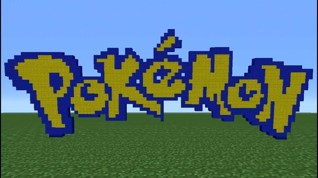Minecraft tutorial how to make the pokemon logo youtube - Pokemon logo minecraft ...
