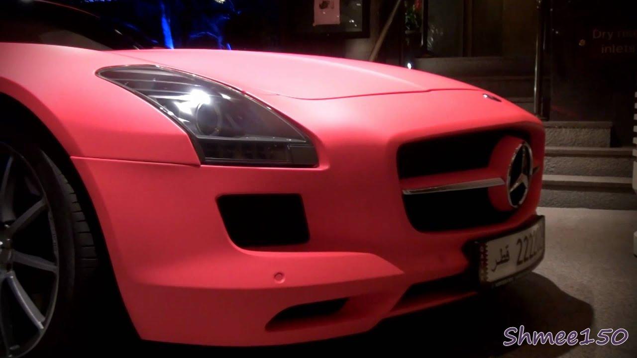 Overkill: Matte Pink Mercedes-Benz SLS AMG in London - GTspirit