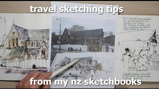 Travel Sketching Tips from my NZ Sketchbooks