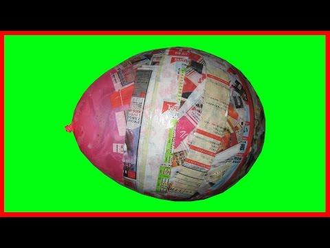 How To Mix Papier Mache To Make Balloon Head