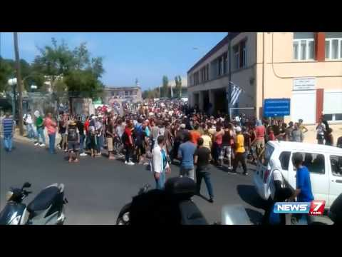 Greece Govt takes in 25,000 refugees in Lesbos | World | News7 Tamil