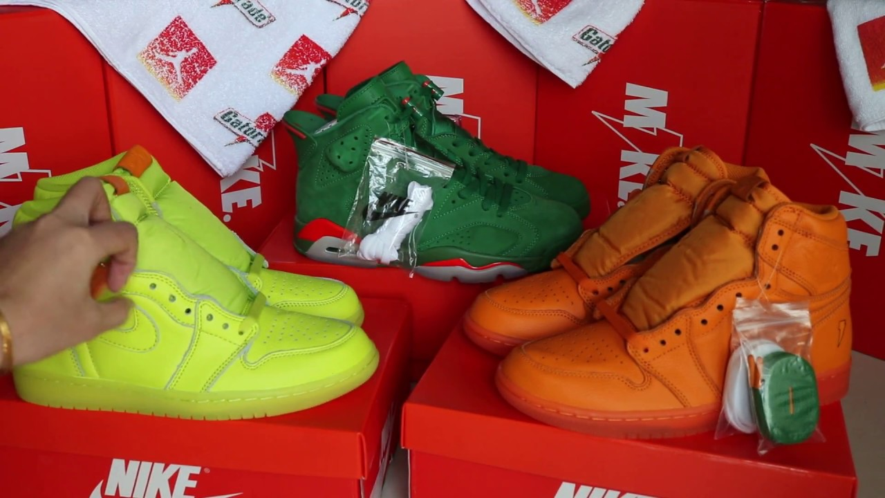 8cb581d567e jordan 1 gatorade yellow /orange jordan 6 gatorade green collection. Yeezy  Custom