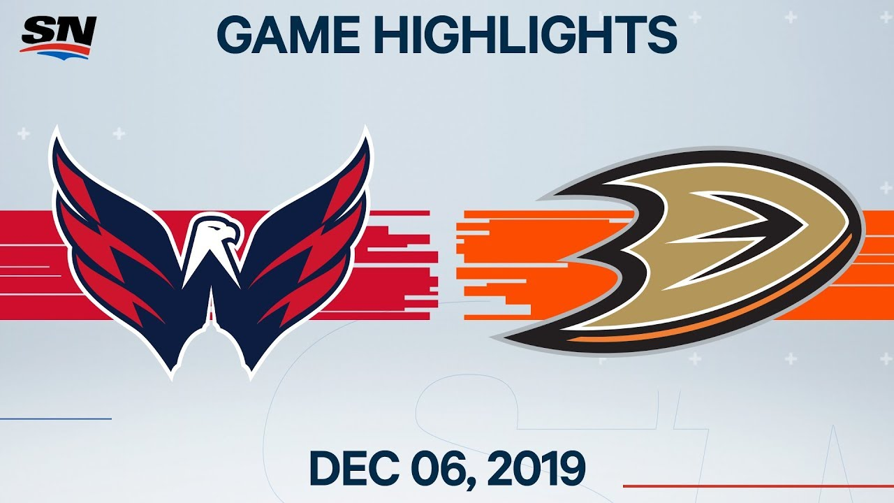 NHL Highlights | Capitals vs Ducks – Dec. 6, 2019