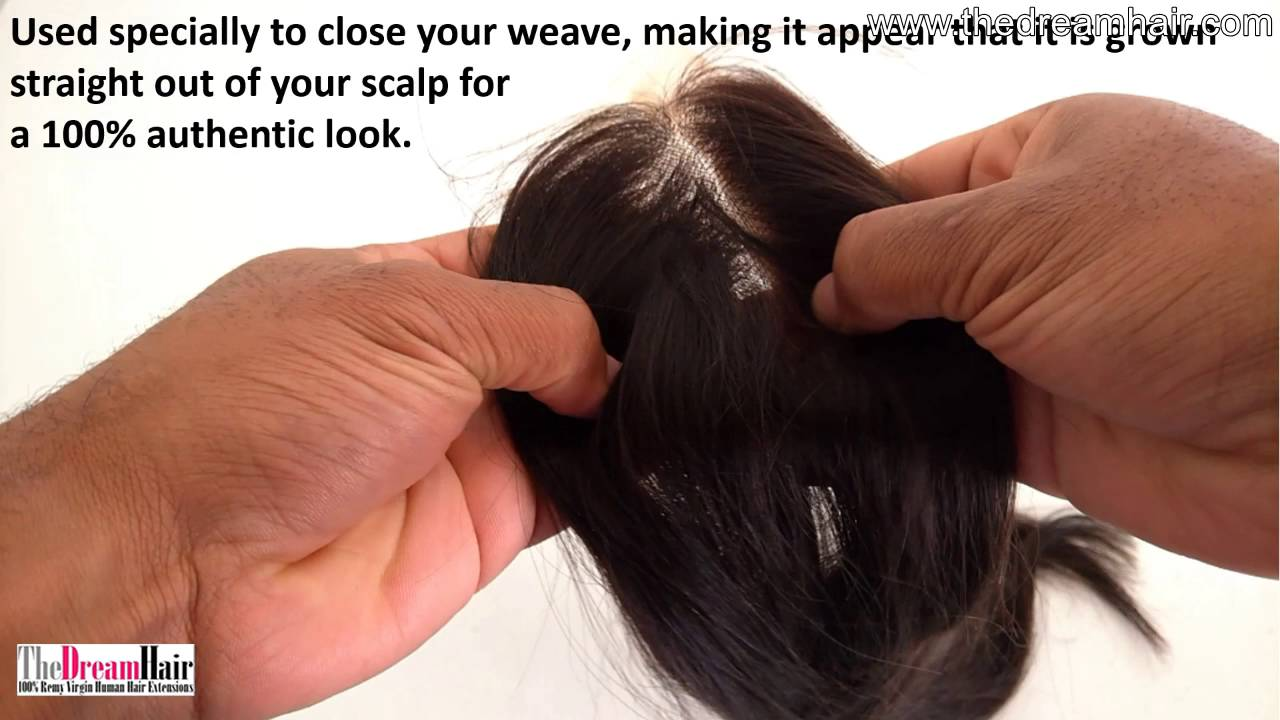 Top Closure Middle Part Hair Extensions Straight Youtube