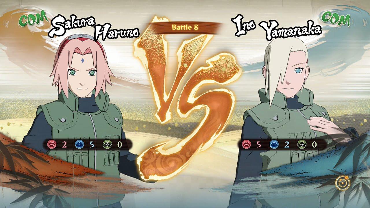 naruto shippuden ultimate ninja storm 4 sakura haruno vs