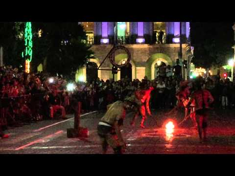 "Mayan Fire ""Life and Death"" Ball Game, Merida, Yucatan"
