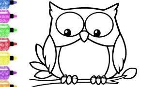 Cara menggambar burung hantu untuk anak