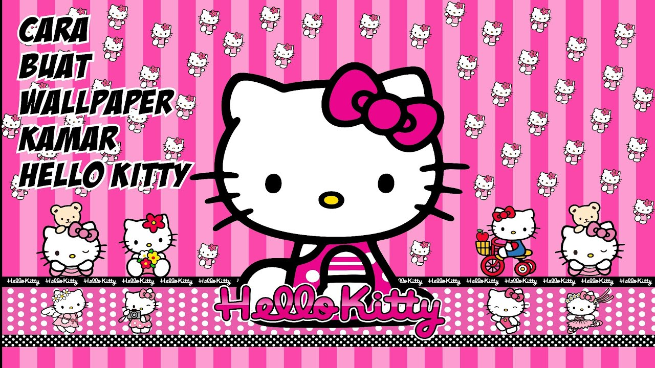 Cara Buat Wallpaper Kamar Hello Kitty Youtube