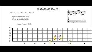 lydian pentatonic scale (5th mode hirajoshi)