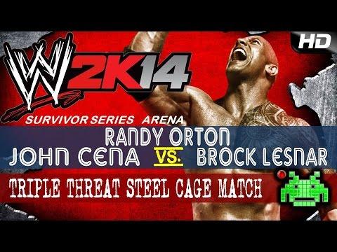 WWE2K14 - John Cena vs Randy Orton vs Bock Lesnar [Steel Cage]