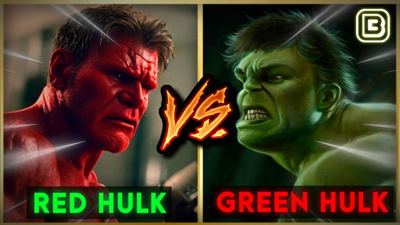 Download Red Hulk Vs Green Hulk   SuperHero Showdown In Hindi   BlueIceBear