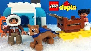 LEGO DUPLO EINMAL UM DIE WELT AROUND THE WORLD DAS LEBEN DER ESKIMOS REISE NACH NORDPOL SCHNEEHAUS