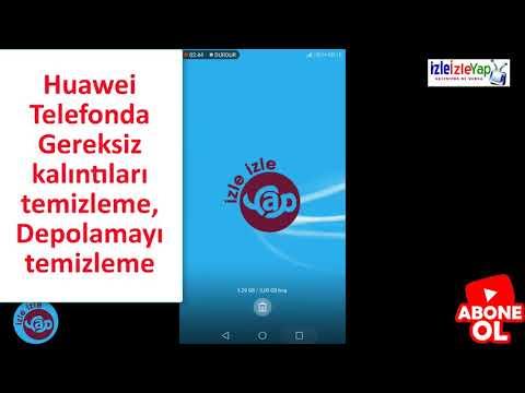 Huawei telefonda dosya kalıntılarını temizleme telefonda yeterli alan yok sorunu
