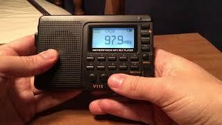 Retekess V-115 AM/FM/SW/MP3 Radio Recorder