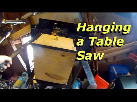 Hanging A Table Saw For Better Storage Youtube