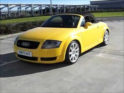 Yellow Audi TT convertible for sale - YouTube