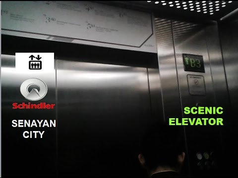 (R2) Schindler MRL Scenic Elevators at Senayan City Mall, Jakarta, 「Main, Lift 2」