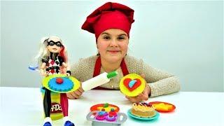 Харли Квин готовит торт из Плей До. Идеи для кукол - Мультики для девочек