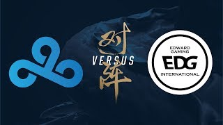 C9 vs. EDG | Group Stage Day 3 | 2017 World Championship | Cloud9 vs Edward Gaming