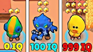 0 IQ vs 100 IQ vs 999 IQ in Brawl Stars! Wins & Fails #56