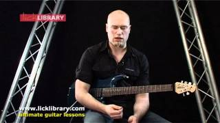 Alternate Picking - Holding The Pick & Which To Use - Guitar Lesson Andy James - Licklibrary