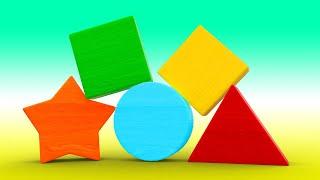 АнимаКары Учим геометрические фигуры и формы ! Обучающие мультики для детей с машинами и зверями