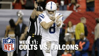 Matt Hasselbeck's 1st Pass is Picked Off by the Falcons! | Colts vs. Falcons | NFL