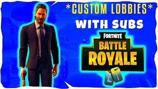 🔴*NEW* JOHN WICK MODE//CUSTOMS WITH SUBS//CODE NICTRIXYT: FORTNITE BATTLE ROYALE (LIVE)