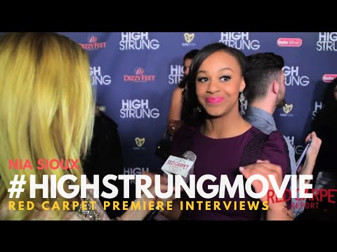 "Nia Sioux #ALDC #DanceMoms at the Red Carpet Premiere for ""High Strung"" #‎HighStrungMovie"