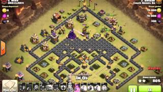 Clash of clans : Beldar dando pt nervoso em cv 9