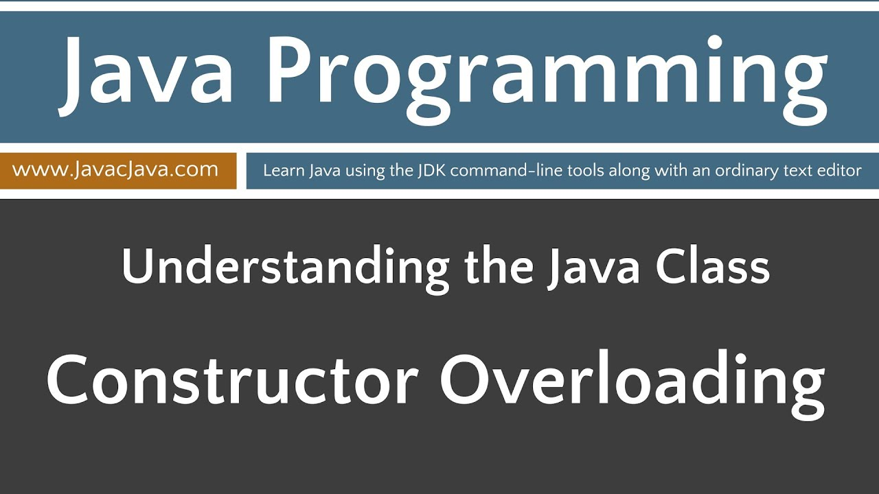 Learn java programming constructor overloading tutorial youtube learn java programming constructor overloading tutorial baditri Image collections
