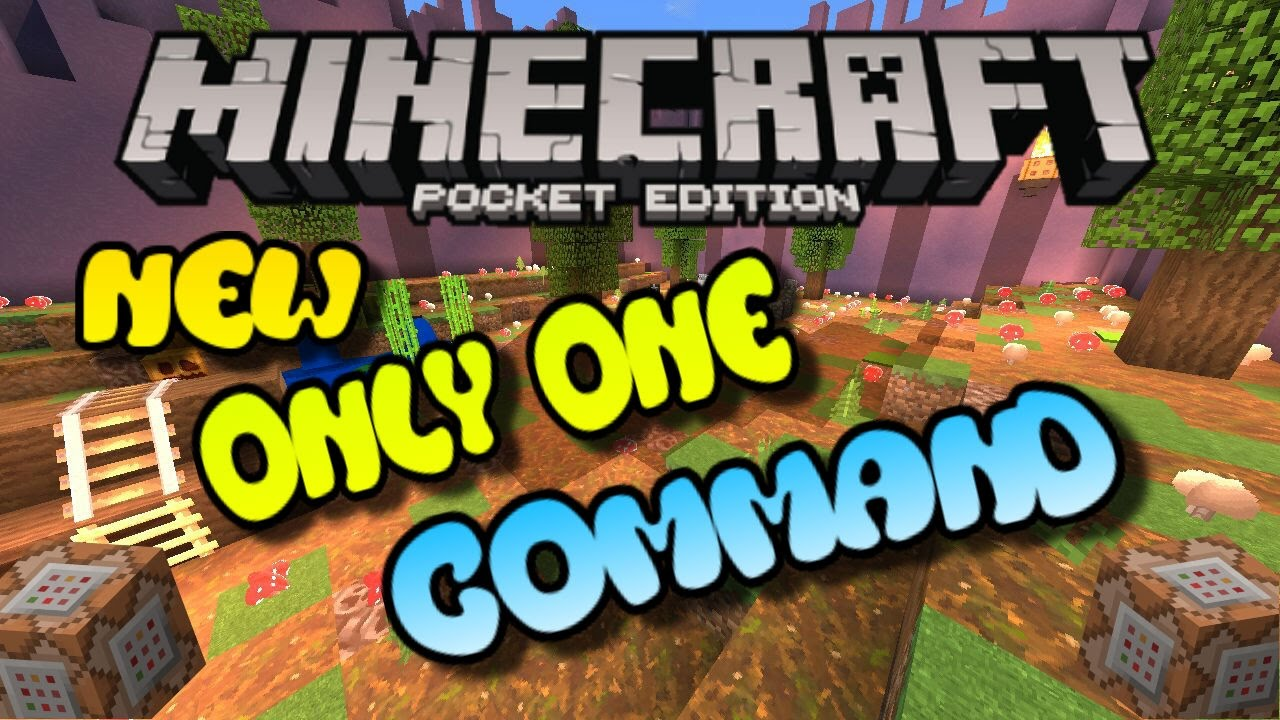 Minecraft PE Command Block Creation - Only One Command