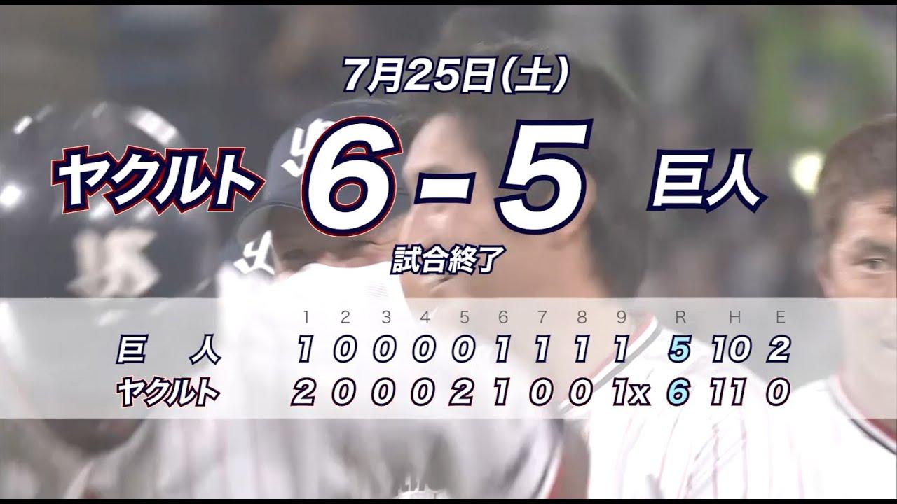 7月神宮球場開催 勝利試合ハイライト動画