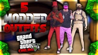 """GTA 5 Online: TOP 5 MODDED OUTFITS + TUTORIAL """"USING CLOTHING GLITCHES"""" (AFTER PATCH 1.38)"""