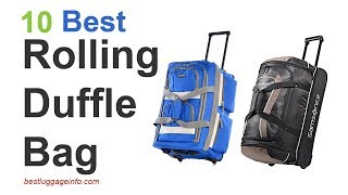 Best Rolling Duffle Bag | Ten Best Cute Lightest duffle bag with wheels.