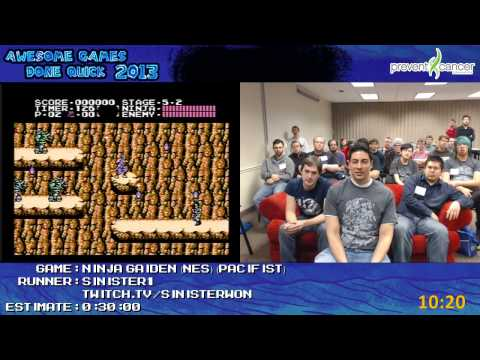 Ninja Gaiden SPEED RUN (0:17:51) *Live at AGDQ 2013* by Sinister1 [NES]
