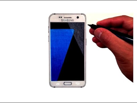How to Draw the SAMSUNG Galaxy S7