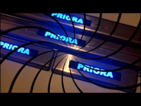 Накладки на пороги с подсветкой на VAZ Priora