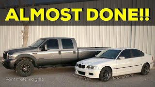 E46 BMW gets a Budget M3 front bumper! Paint matched F250 Grille - Take it to the track pack!