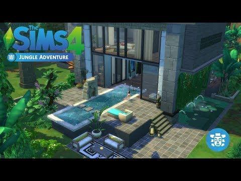 The Sims 4 - Modern Luxury Jungle Gettaway (House Build) Jungle Adventure