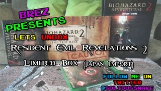 Resident Evil Revelations 2 Limited Edition - Import Unboxing
