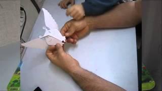 Объемная поделка из бумаги   сова и ворона